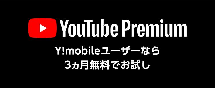 Y!mobileユーザーなら3ヵ月無料キャンペーン