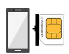 SIMフリースマホ + SIMカード