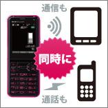 画像:ケータイ + Wi-Fiルーター
